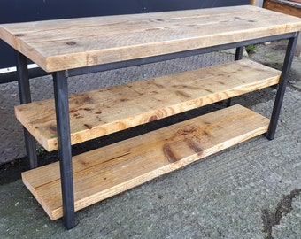 Steel & Reclaimed Scaffold Board Industrial Look Shoe Rack Bench