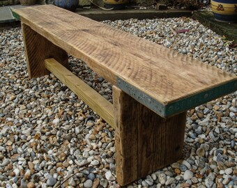 Reclaimed Scaffold Board Rustic Simple Wood Bench