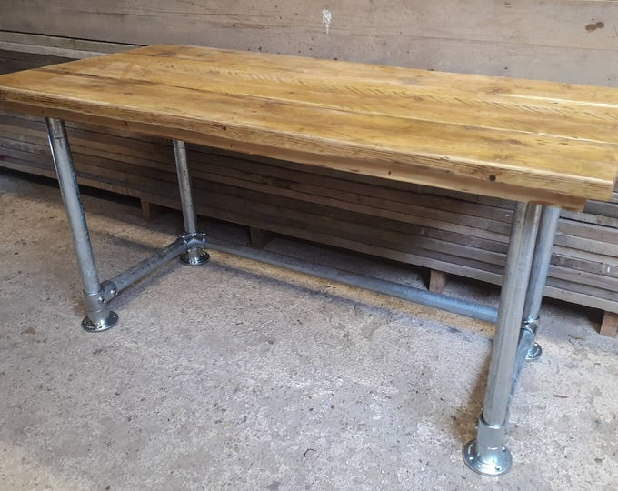 Scaffold Tube & Reclaimed Scaffold Board Rustic Industrial Look Desk