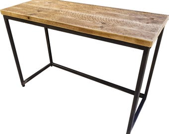 Steel & Reclaimed Scaffold Board Rustic Industrial Look Desk