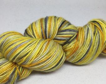 Hand dyed sock yarn in merino/nylon blend, hand dyed super wash sock yarn, Mermaid yarn for knitting and crochet