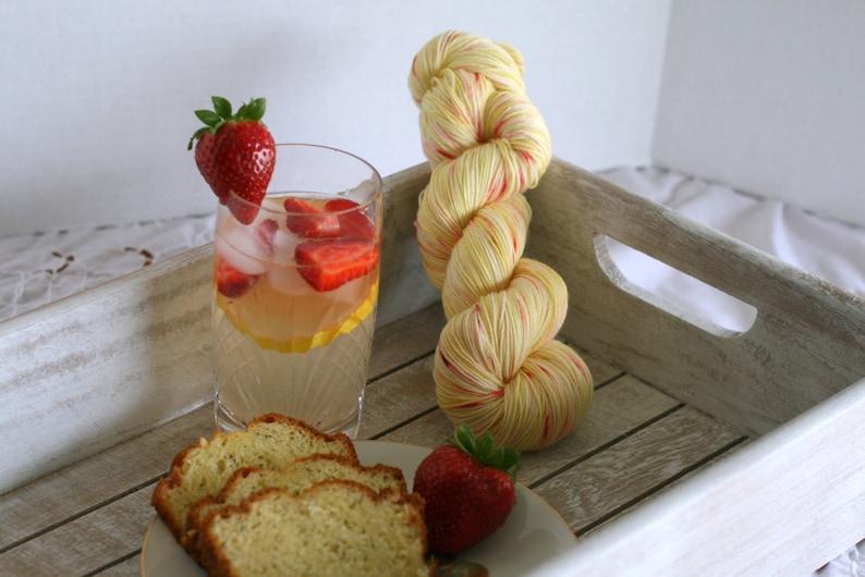 Hand dyed yellow lemonade yarn sock yarn kettle dyed yarn, yellow yarn with speckles,indie yarn