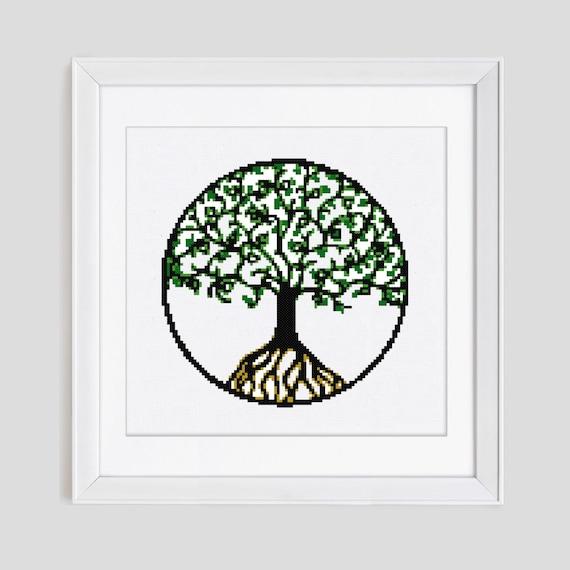 Tree Of Life Cross Stitch Pattern Tree Counted Cross Stitch Etsy Extraordinary Tree Of Life Pattern