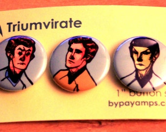 "1"" Button Star Trek Set: Triumvirate"