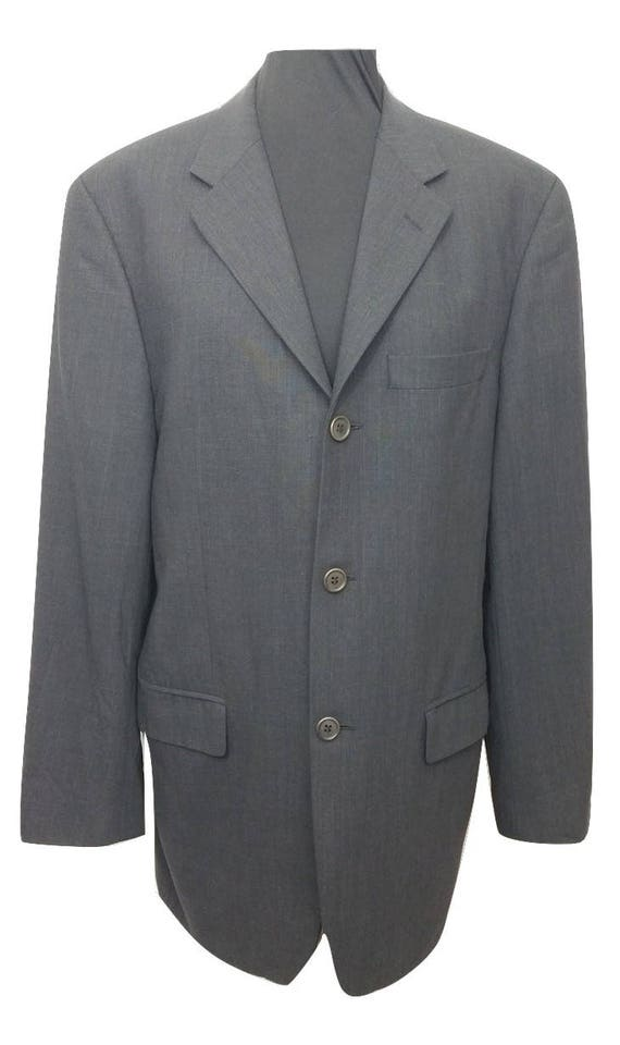 Vintage Suit Jacket Blue Pinstripe Chest 40in Retro Blazer Etsy
