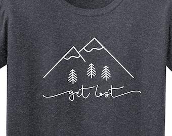 f47ae63ba Get Lost Mountain Shirt | Mountain Shirt | Hiking Shirt | Camping Shirt |  Adventure | Outdoors Shirt | Softstyle Unisex T Shirt | Soft