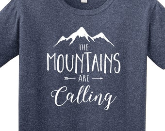 1202dad5a The Mountains Are Calling | Mountain Shirt | Hiking Shirt | Camping Shirt |  Adventure | Outdoors Shirt | Softstyle Unisex T Shirt | Soft