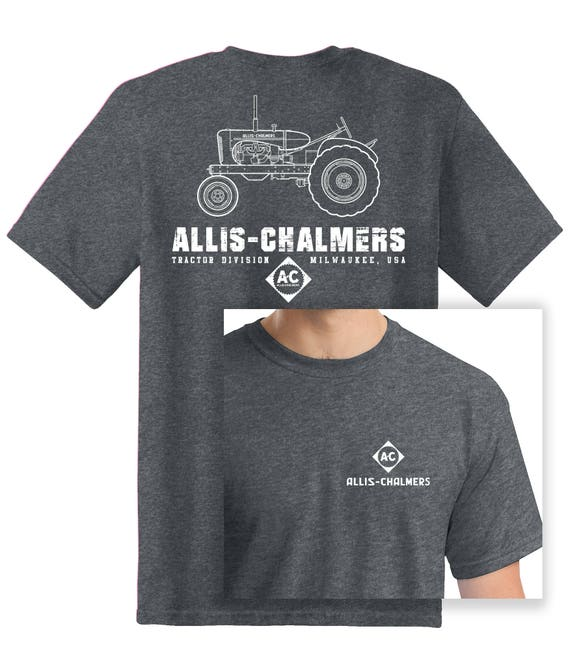 New Allis Chalmers Tractor 6 Panel Black Hat w// sandwich brim Cap Gift Fits Most