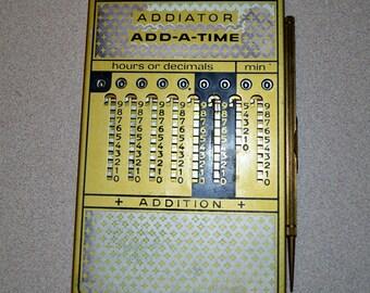 Rare Vintage Addiator Add-A-Time