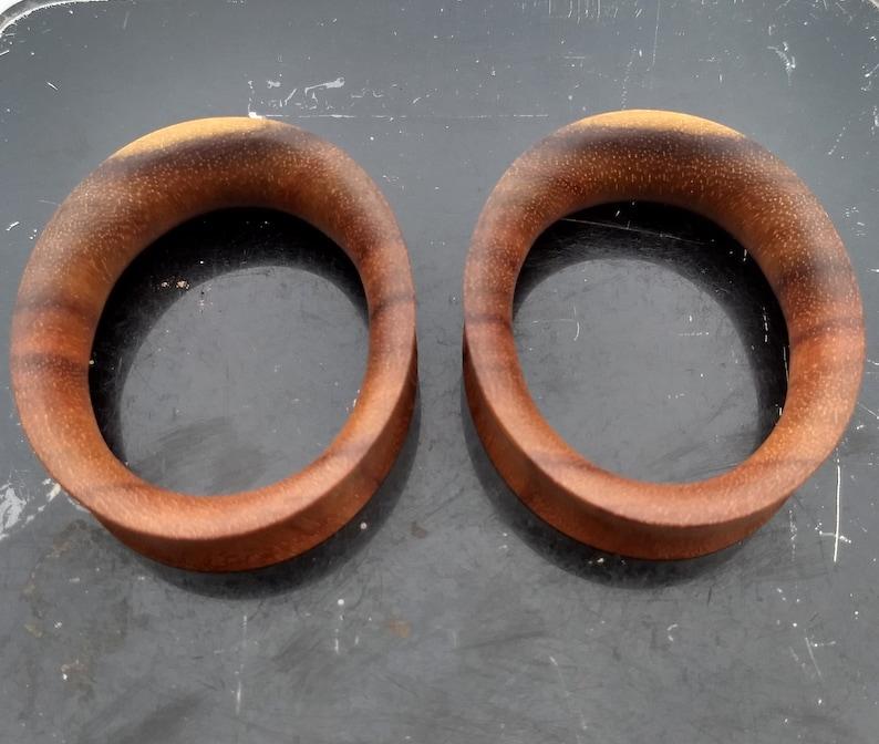 Katalox Oval Tunnel Teardrop Plugs Organic Plugs Handmade Wooden Ear Plugs  Gauges PAIR 14 mm-60 mm 9/16