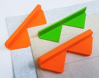3D-Printed Corner Cutting Tool for Bookbinding (Set of 3)