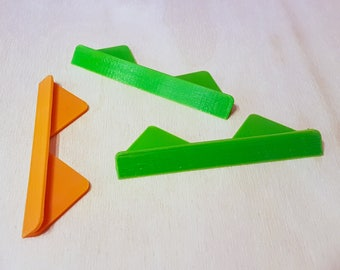 3D-Printed Corner Cutting Tool with an Angled Wall for Bookbinding (Set of 3)