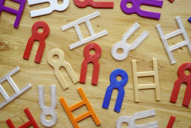 10x Bookbinding Sewing Keys image 0