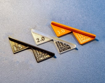3x Corner Cutting Tool for Bookbinding, Cartonnage, Box Making / Mitering Jig (3D-printed, Mark II)