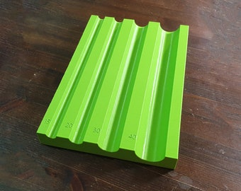 20x2.5 cm Spine Rounding Tool with 4 Grooves (Rondzetblok / Rundeholz, 3d-printed)