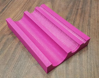 20x4 cm Two-Sided Spine Rounding Tool with 7 Grooves (Rondzetblok / Rundeholz, 3D-Printed)