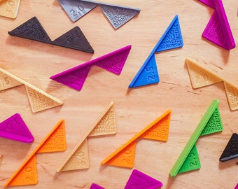 25x Corner Cutting Tools for Bookbinding, Cartonnage, Box Making / Mitering Jig (3D-Printed, Classroom Bundle, Mark II)