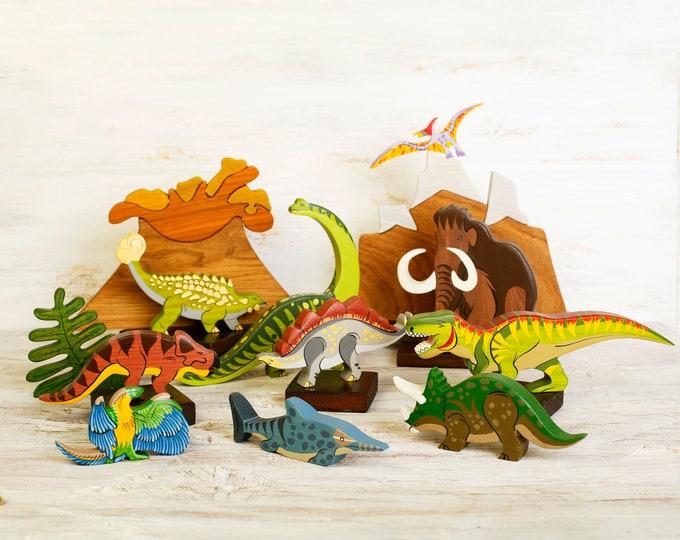 You Pick Dino Kids Name Gift Personalized Dinosaur Puzzle Volocano Jurassic Dinosaur Personalized Puzzle Orange Dino Puzzle