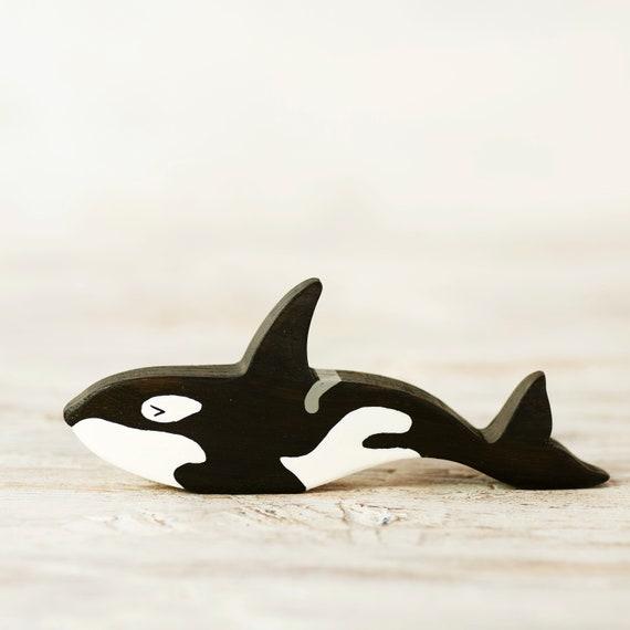 Orca Figur Killerwal Holzspielzeug | Etsy
