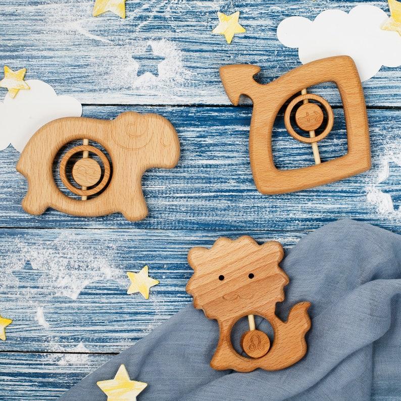 Zodiac Leo gift Idea Baby Teether Birth Leo symbol