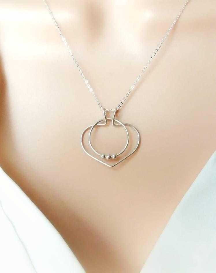 Ehering Kette Zauberherz Ringhalter Halskette Silberring