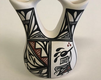 Handpainted Native American Wedding Vase