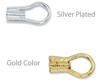 Beadalon EZ Crimp Ends (20 PCS) Silver Plated or Gold Color Jewelry Crimps Ends