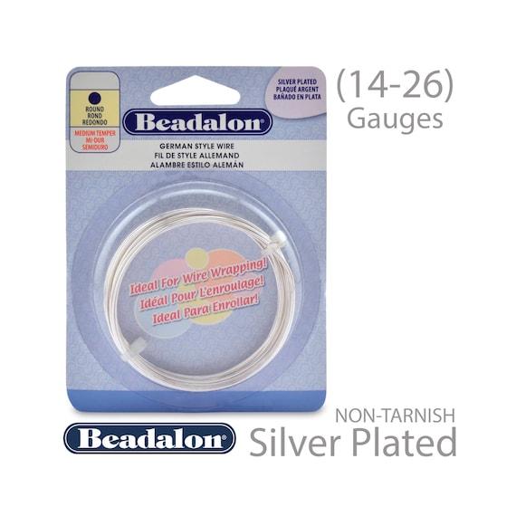 2.Meters Beadalon German Style Wire 16 Gauge Gold Color Round
