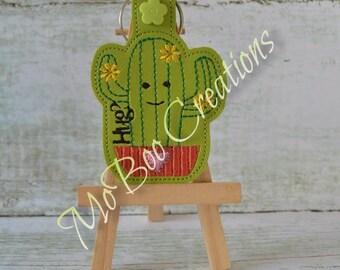 Cactus Hugs key fob