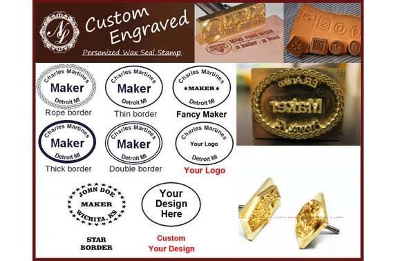 3cm X 25cm Custom Made Design Leather Stamp Wood