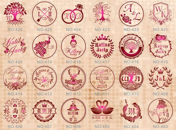 #403-426 1pc of Custom Made Your Name Date Initials Wedding Wax Seal Stamp+1 Wax