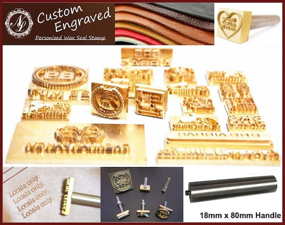 2cm 10cm Custom Made Design Personalized Leather Stamp
