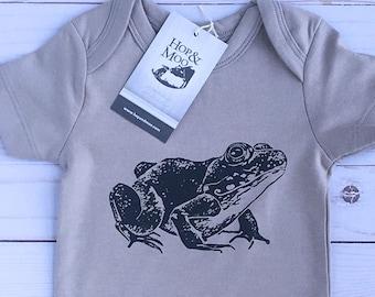 ORGANIC FROG Baby Bodysuit (grey shirt)