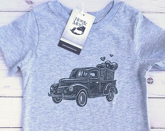 ORGANIC-  Vintage Pick-Up TRUCK- Baby/Kids T-shirt