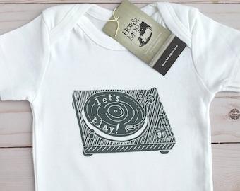 ORGANIC Vintage Vinyl Player Baby Shirt