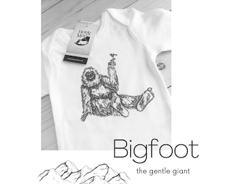 ORGANIC BIGFOOT Baby Bodysuit or T-SHIRT