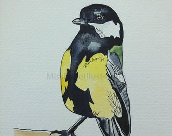 Great Tit Watercolour