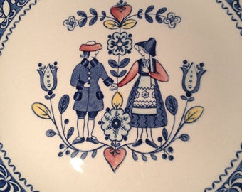 Hearts and Flowers Pattern Johnson Brothers Side Plate 1970's Vintage Retro Mid Century Modern Anniversary Present Idea