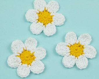 kids birthday decorations blue crochet flower applique set of 24 bleur fleur blue flower appliques crochet flower decorations