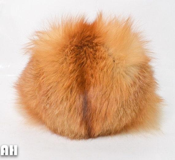 Vintage Women's Fox Fur Hat Russian Style