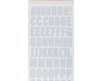 "American Crafts | Pebbles | Lullaby Boy | Thickers Stickers 5.5""X11"" 