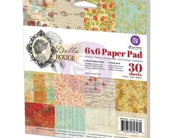 "Prima Marketing Paper Pad 6""X6""~Bella Rouge"