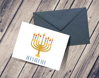 Let's Get Lit Hanukkah Card, Hanukkah Get Lit, Funny Hanukkah Card, Hanukkah Greeting Card, Chanukah Cards, Hanukkah Gift Card