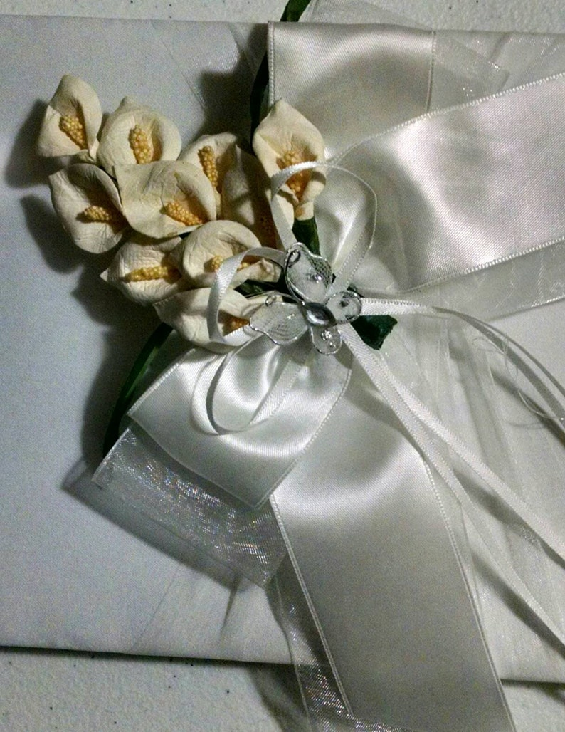 2 pcs Callas lilly/'s Guest book and handle pen wedding set