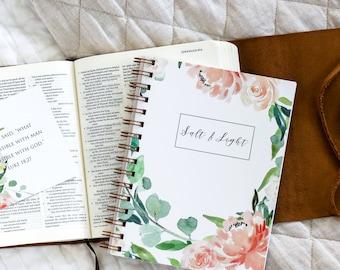 Undated Planner / Salt & Light Undated Planner / Christian Planner / Day Planner / Christian Daily Planner / Undated / Floral Planner