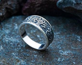 Teldrassil Tree Ornament ring Sterling silver