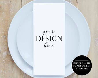 Download Free Menu Mockup, Styled Stock Photo, Product Background Image, Wedding Menu Mockup, Stationery Mockup, PSD, JPEG, Wedding Plate Mock Up, PSD Template