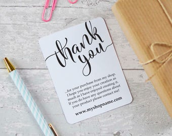 Business Thank You Cards Etsy