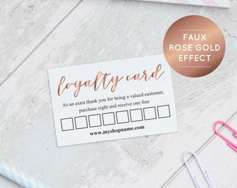 Loyalty Card Etsy - Free loyalty card template download