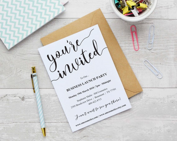 Business launch invitation template instant download etsy image 0 accmission Choice Image